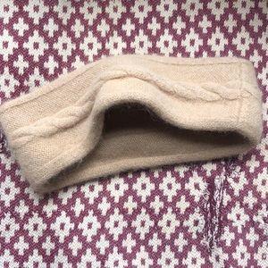 Warm rabbit fur tan headband